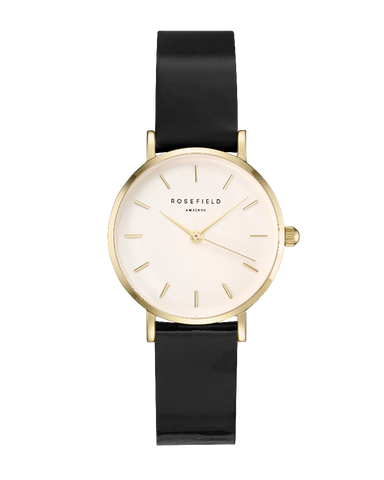 Montre Rosefield THE PREMIUM GLOSS Blanc Noir Or Jaune SHBWG-H33