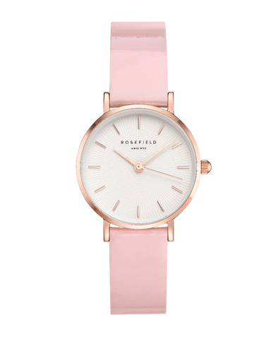 Montre Rosefield THE PREMIUM GLOSS Blanc Rose Or Rose SHPWR-SH32
