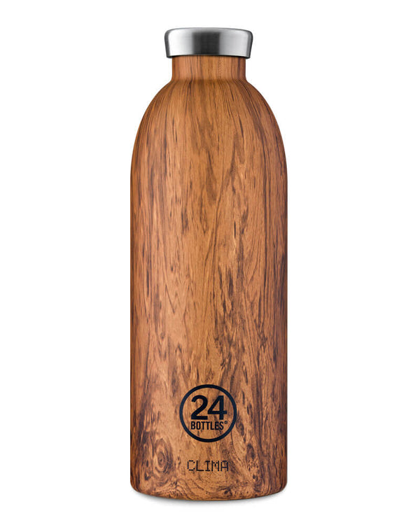 Bouteille réutilisable 24Bottles Clima Bottle Sequoia Wood 850ml - PRECIOVS