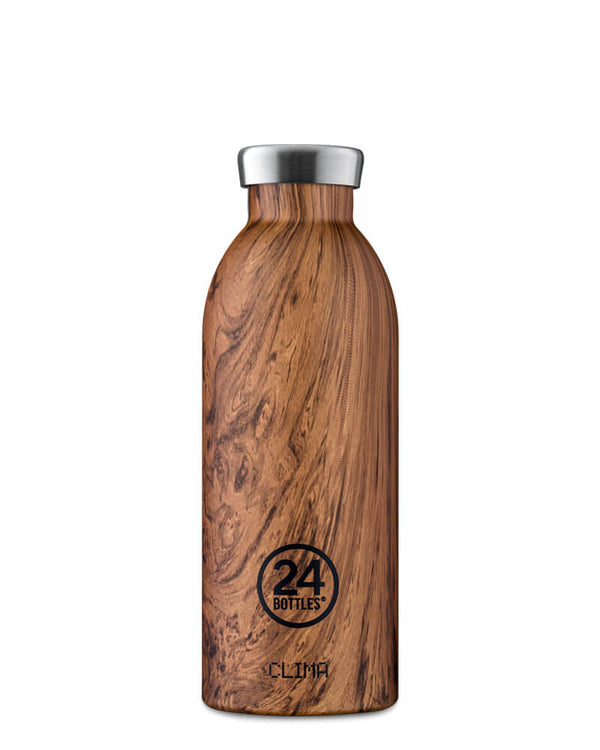 Bouteille réutilisable 24Bottles Clima Bottle Sequoia Wood 500ml - PRECIOVS