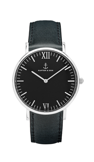 Montre Kapten & Son Silver All Black