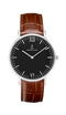 Montre Kapten & Son Silver Black Brown Croco Leather