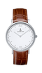 Montre Kapten & Son Silver Brown Croco Leather