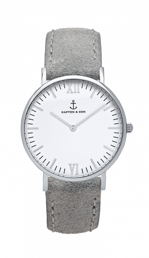 Montre Kapten & Son Silver Grey Vintage Leather - PRECIOVS
