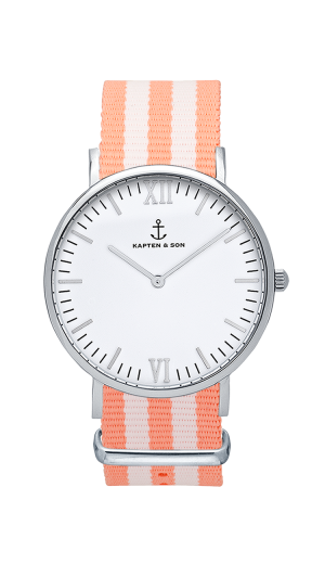 Montre Kapten & Son Silver Peach