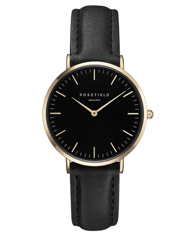 Montre Rosefield The TRIBECA Black Black Gold TBBG - T56