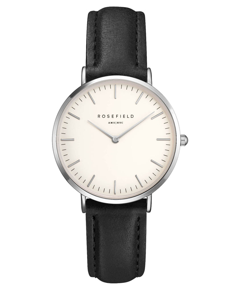 Montre Rosefield The TRIBECA White Black Silver TWBLS - T54
