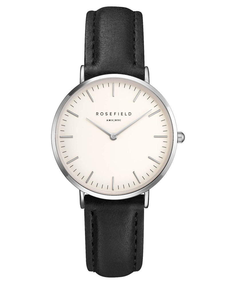 Montre Rosefield The TRIBECA White Black Silver TWBLS - T54 - PRECIOVS