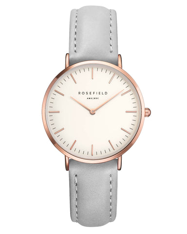 Montre Rosefield The TRIBECA White Grey Rose Gold TWGR - T57