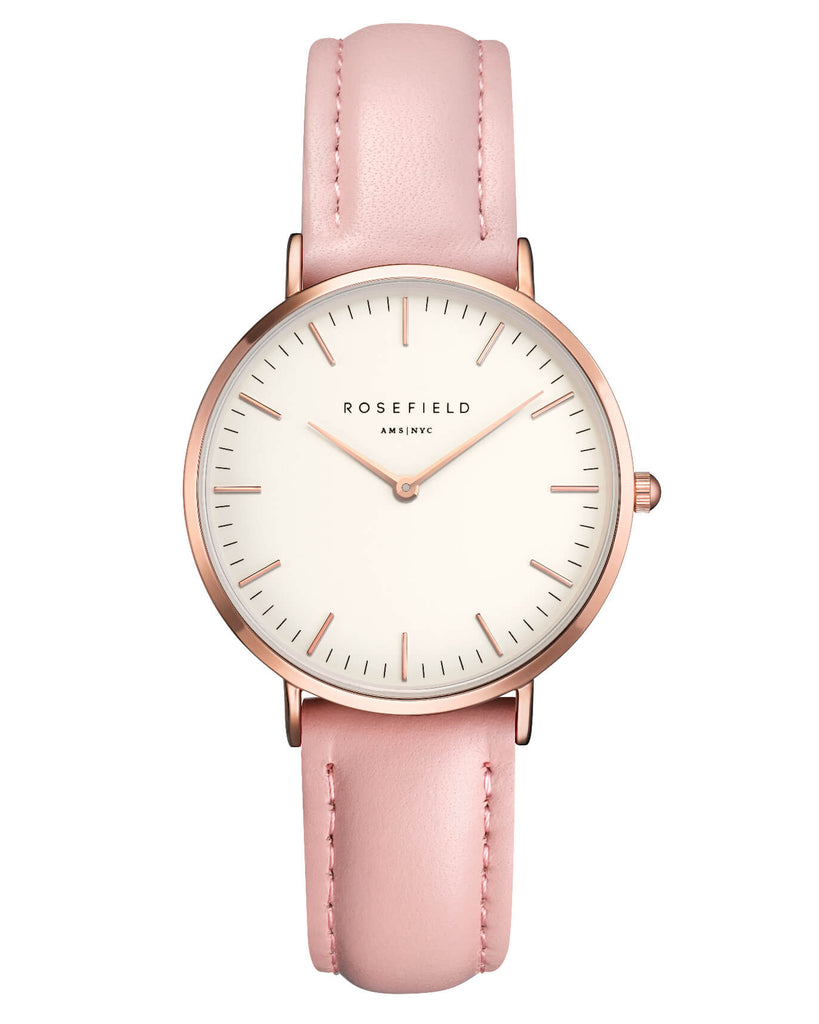 Montre Rosefield The TRIBECA White Pink Rose Gold TWPR - T58
