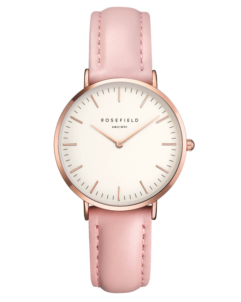 Montre Rosefield The TRIBECA White Pink Rose Gold TWPR - T58 - PRECIOVS