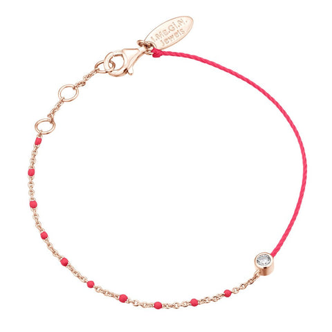 Bracelet I.Ma.Gi.N Jewels Br enamel duo fluo pink Rose Gold