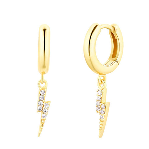 Boucles d'oreilles I.Ma.Gi.N Jewels Bo hoop lightning Or Jaune