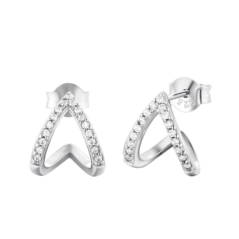 Boucles d'oreilles I.Ma.Gi.N Jewels Bo ring duo white Argent version 2019 - PRECIOVS