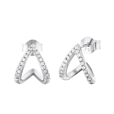 Boucles d'oreilles I.Ma.Gi.N Jewels Bo ring duo white Argent version 2019