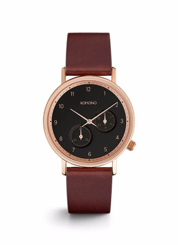 Montre Komono The Walther Burgundy W4003 - PRECIOVS