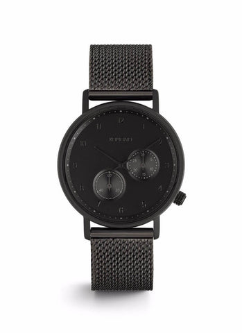 Montre Komono The Walther Black Mesh W4021 - PRECIOVS