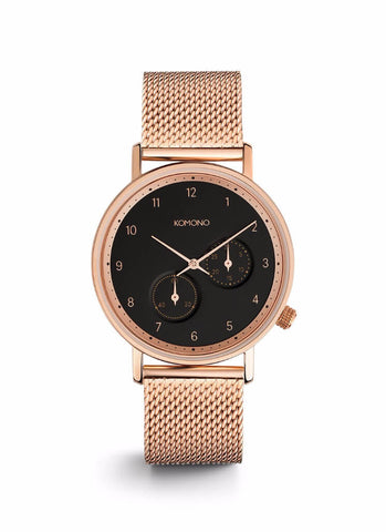 Montre Komono The Walther Rose Gold Mesh W4022 - PRECIOVS
