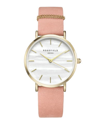 Montre Rosefield THE WEST VILLAGE Bubblegum Pink Gold WBPG-W72 - PRECIOVS