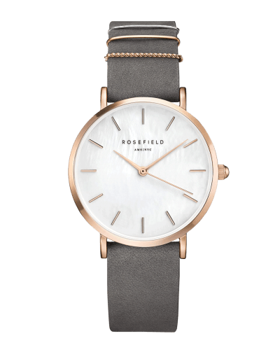 Montre Rosefield THE WEST VILLAGE Elephant Grey Rosegold WEGR-W75 - PRECIOVS
