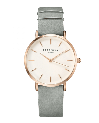 Montre Rosefield THE WEST VILLAGE Mint Grey Rosegold WMGR-W74 - PRECIOVS