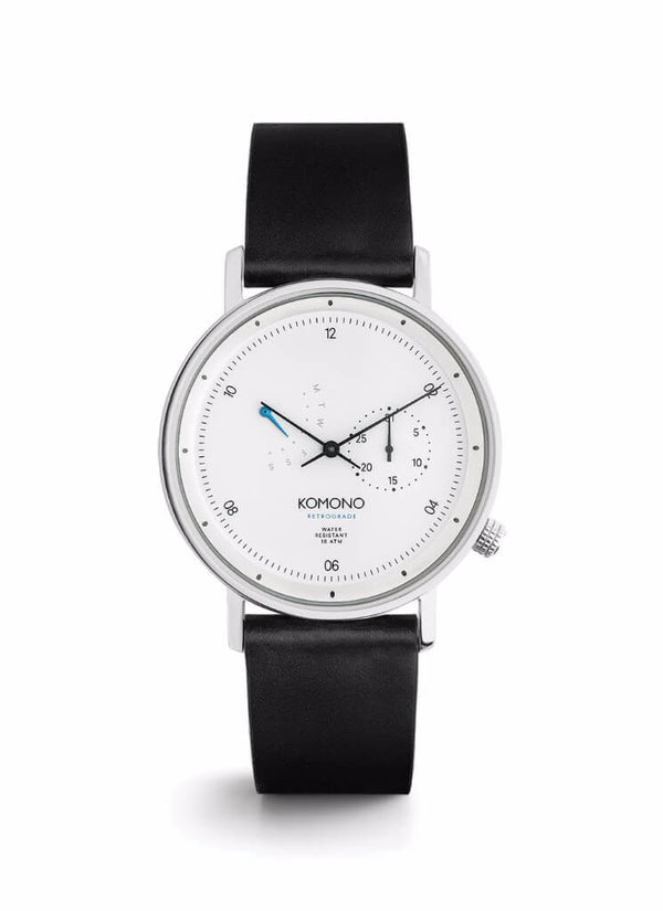 Montre Komono The Walther Retrograde White W4032 - PRECIOVS