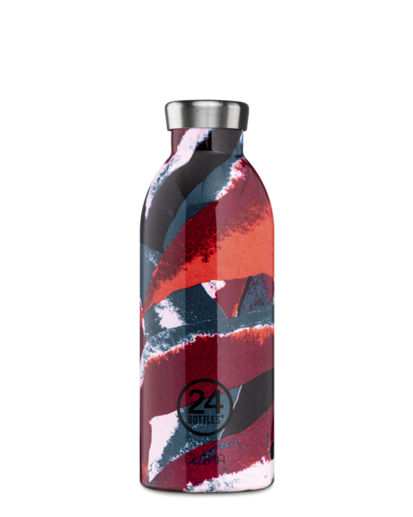 Bouteille réutilisable 24Bottles Clima Bottle Flower Flame 500ml - PRECIOVS