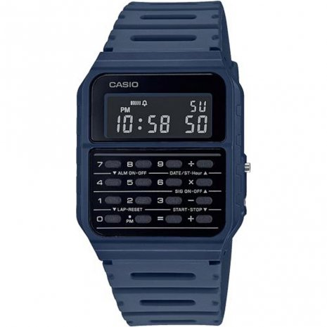 Montre Casio Vintage calculatrice Navy Blue CA-53WF-2BEF - PRECIOVS