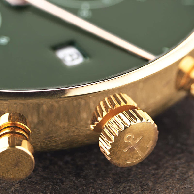 Montre Kapten & Son Chrono Gold Green Steel - PRECIOVS