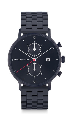 Montre Kapten & Son Chrono Black Midnight Steel - PRECIOVS