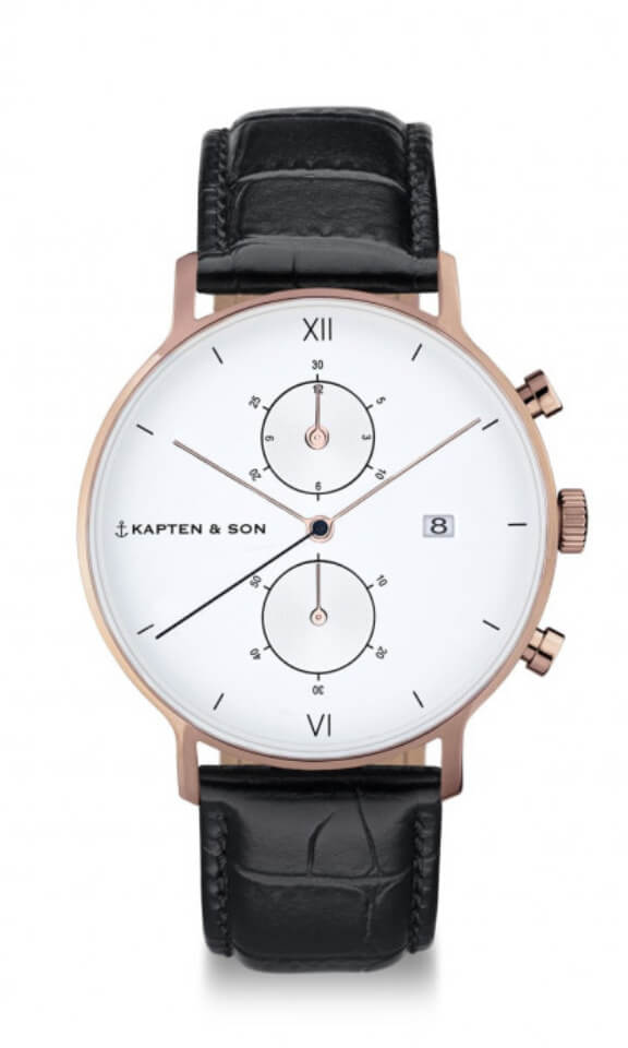 Montre Kapten & Son Chrono Black Croco - PRECIOVS