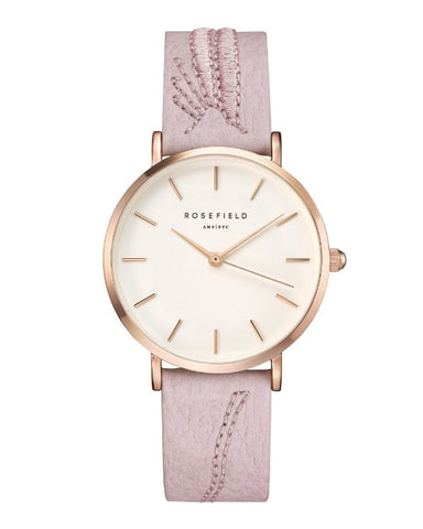 Montre Rosefield CITY BLOOM Blossom White Rose Gold