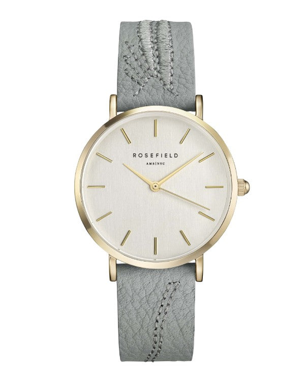 Montre Rosefield CITY BLOOM Leaf Brush Gold - PRECIOVS