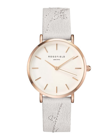 Montre Rosefield CITY BLOOM Lily White Rose Gold