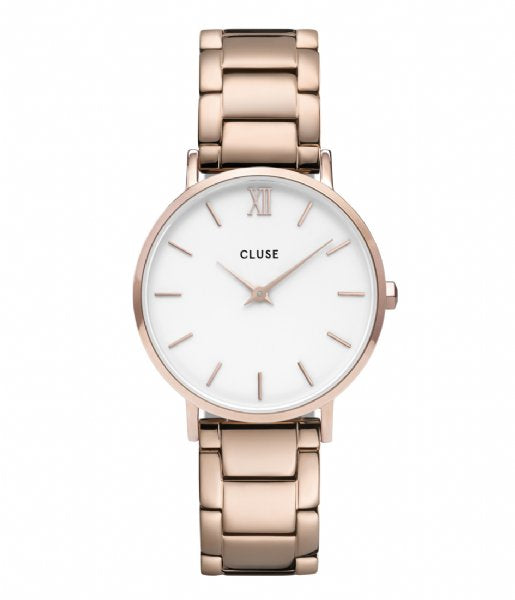 Montre CLUSE Minuit 3-Link Rose Gold Steel CW0101203027