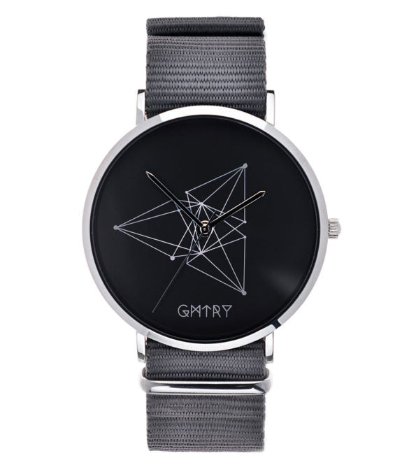 Montre GMTRY The Contour Series Dark Grey Gris (+2ème bracelet au choix) - PRECIOVS