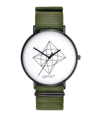 Montre GMTRY The Contour Series White Vert (+2ème bracelet au choix) - PRECIOVS