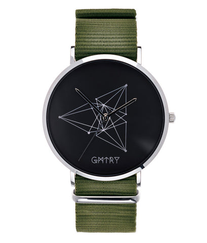 Montre GMTRY The Contour Series Dark Grey Vert (+2ème bracelet au choix) - PRECIOVS