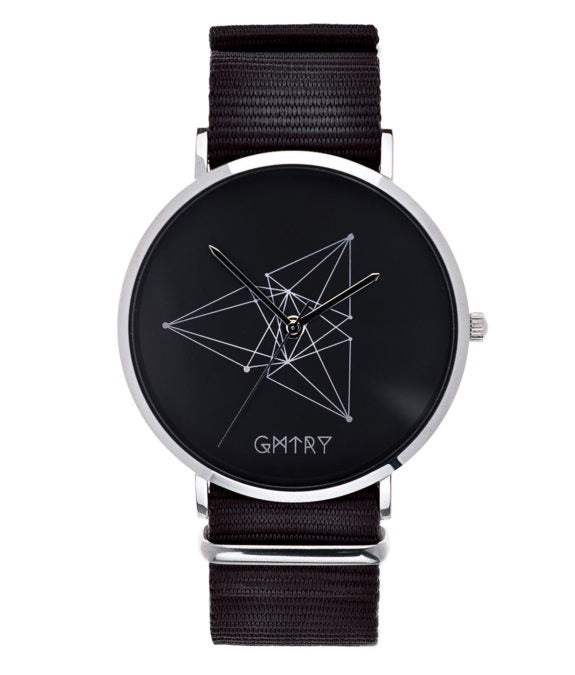 Montre GMTRY The Contour Series Dark Grey Noir (+2ème bracelet au choix) - PRECIOVS