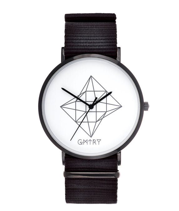 Montre GMTRY The Contour Series White Noir (+2ème bracelet au choix) - PRECIOVS