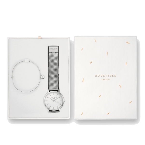 Coffret Rosefield The Mercer Blanc Argent + The Wooster Argent Medium - PRECIOVS
