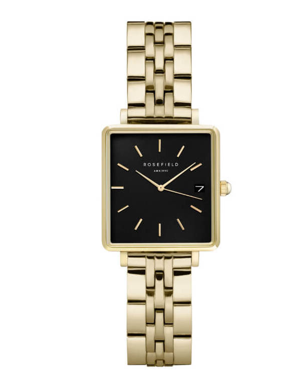 Montre Rosefield THE BOXY XS Noir Or Jaune Q025 - PRECIOVS