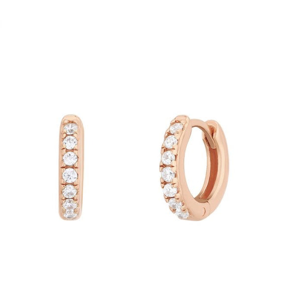 Boucles d'oreilles I.Ma.Gi.N Jewels Bo hoop white Rose Gold - PRECIOVS