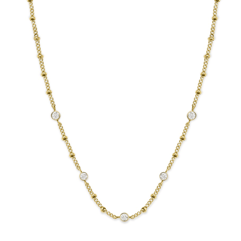 Collier Rosefield The Raye Chocker avec cristaux Swarovski Gold J266 - PRECIOVS