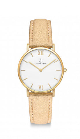Montre Kapten & Son Joy Gold Glitter Leather - PRECIOVS