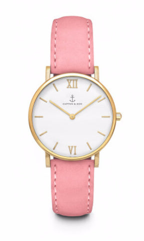 Montre Kapten & Son Joy Rose Velvet Leather