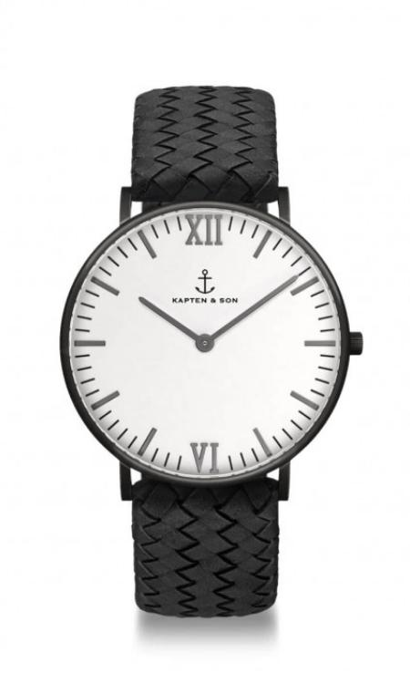 Montre Kapten & Son Midnight Woven Leather - PRECIOVS