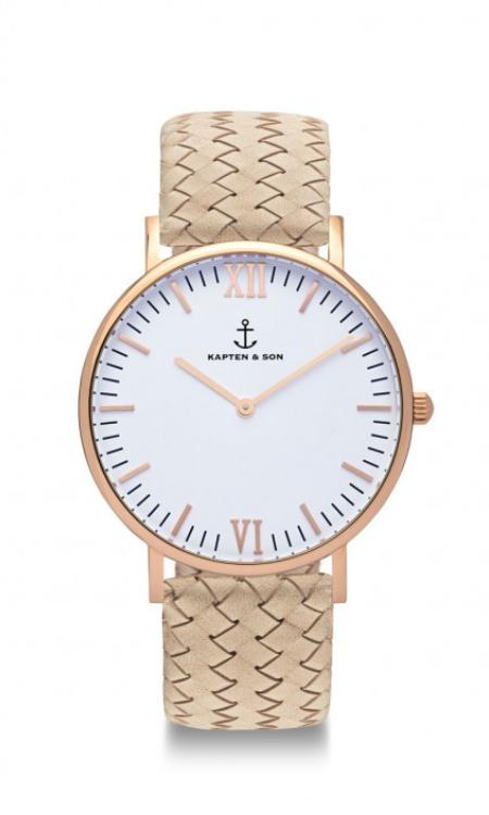 Montre Kapten & Son Sand Woven Leather - PRECIOVS