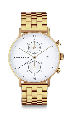 Montre Kapten & Son Chrono Gold Steel