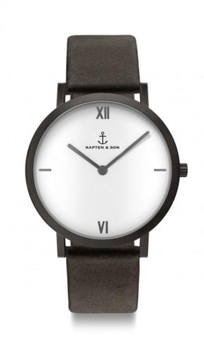 Montre Kapten & Son Pure Lux Black Leather